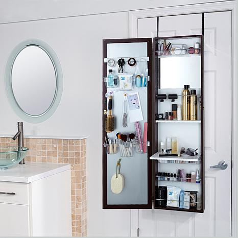 over the door bath beauty cabinet with full length mirror 7678090 hsn. Black Bedroom Furniture Sets. Home Design Ideas