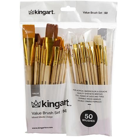 Paint Brush Value Pack 50-pack - Mixed Media