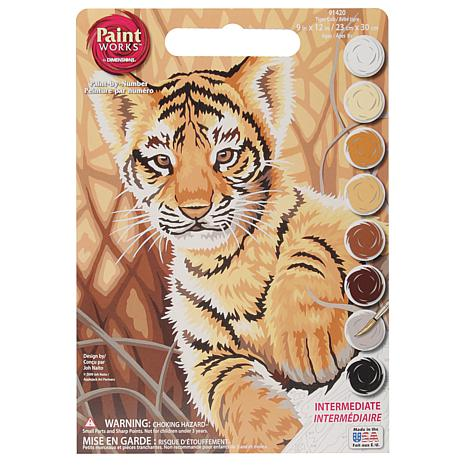 "Paint Works Paint By Number Kit 9"" x 12"" - Tiger Cub"
