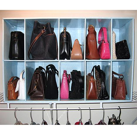 Ordinaire Park A Purse Closet Organizer With 10 Cubbies
