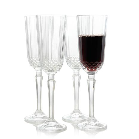 Pasabahce Diony 4 Piece 4.25 oz Flute Glass Set
