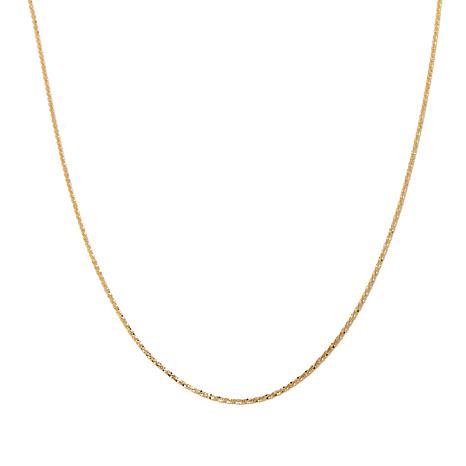 """Passport to Gold 14K 1.5mm Sparkle Chain 20"""" Necklace"""