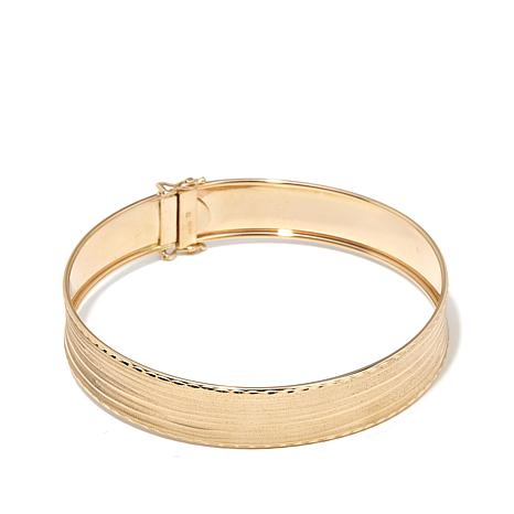 Passport to Gold 14K Diamond-Cut Satin Finish Bangle