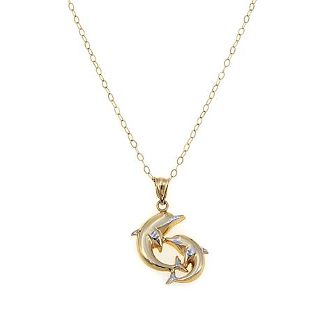 "Passport to Gold 14K Dolphin Pendant with 18"" Chain"