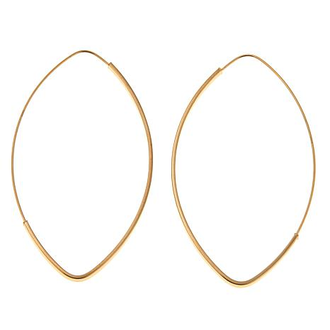 Passport to Gold 14K Elongated Oval Endless Hoop Earrings
