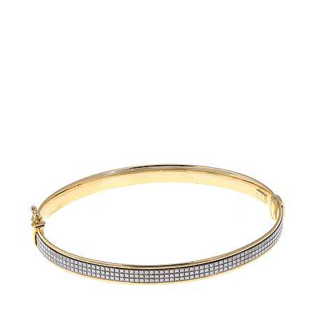 Passport to Gold 14K Glitter Finish Bangle Bracelet
