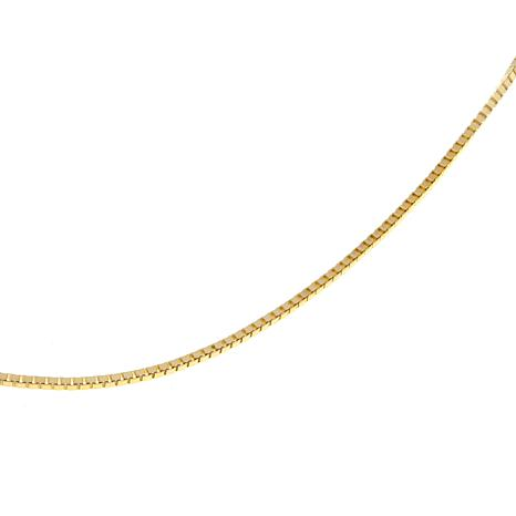 """Passport to Gold 14K Gold 1mm Box Chain 22"""" Necklace"""