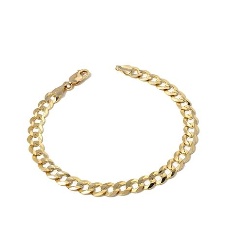 "Passport to Gold 14K Gold 7mm Curb-Link 8-1/2"" Bracelet"