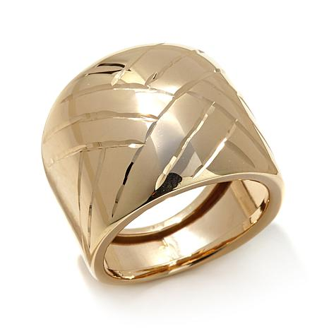 Passport to Gold 14K Gold Basketweave Cigar Band Ring