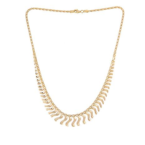 """Passport to Gold 14K Gold Graduated Cleopatra-Link 17"""" Necklace"""