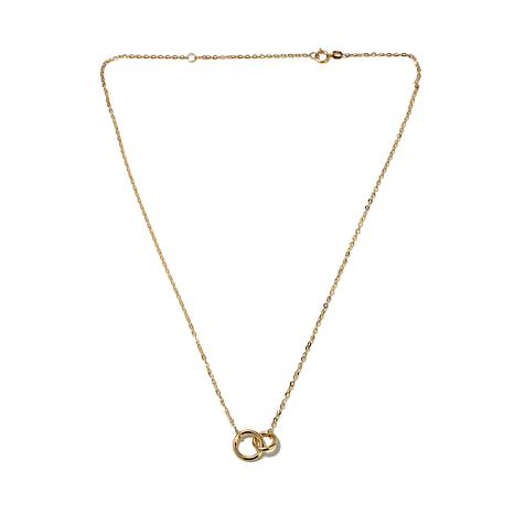 "Passport to Gold 14K Interlocking Circle 18"" Necklace"