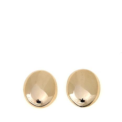 Passport to Gold 14K Oval Button Stud Earrings