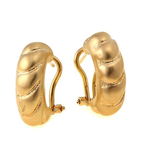 Passport to Gold 14K Satin-Finish Shrimp Earrings