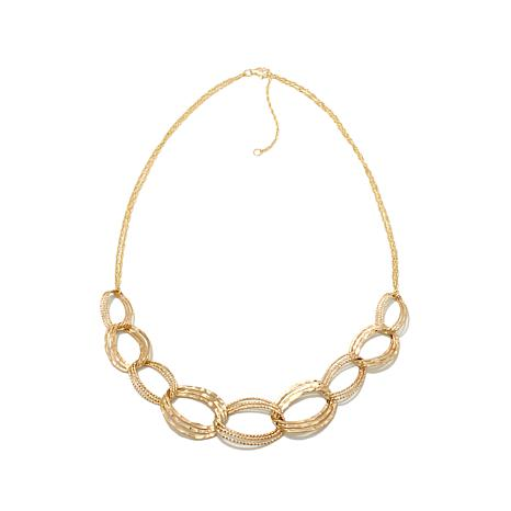 Passport to Gold 14K Textured & Hammered Link Necklace