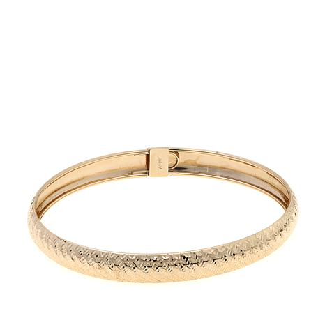 "Passport to Gold 14K ""Tornado-Cut"" Bangle Bracelet"