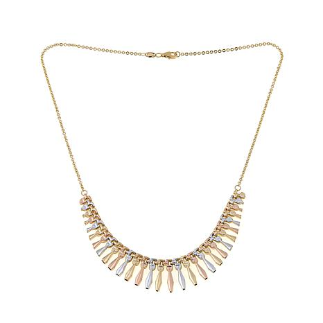 "Passport to Gold 14K Tritone 17"" Cleopatra Necklace"