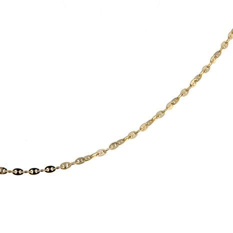 necklace yellow image ebay wide gold puffed hollow gucci link mariner chain