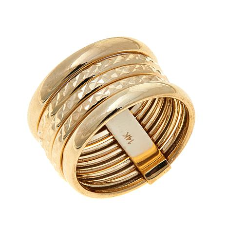 Passport to Gold 14K Yellow Gold 5-Band Ring