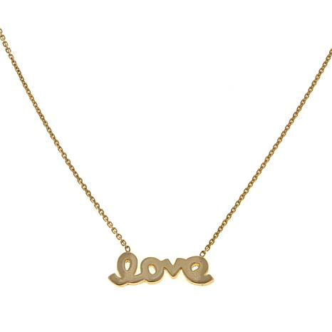 "Passport to Gold 14K Yellow Gold Mini ""Love"" Necklace"