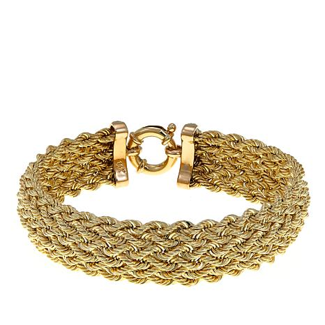 "Passport to Gold Diamond-Accented 14K Rope Weave 7-1/4"" Bracelet"
