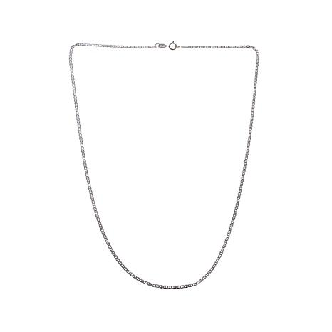 "Passport to Gold White Gold Anchor Link 16"" Necklace"
