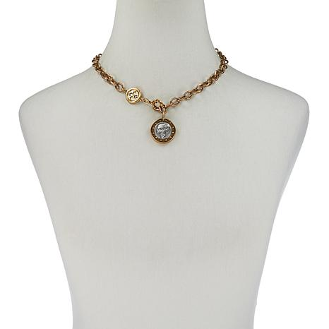 "Patricia Nash 18"" World Coin Single-Row Y-Drop Necklace"