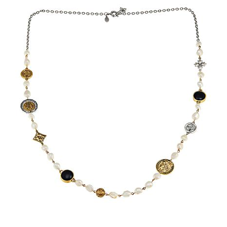 """Patricia Nash 39"""" World Coin Simulated Pearl Single-Strand Necklace"""