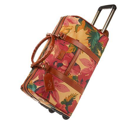 Patricia Nash Avola Coated Canvas Trolley Duffle Bag