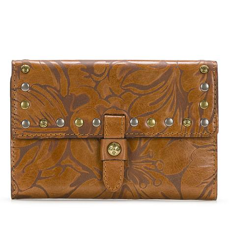 Patricia Nash Colli Laser-Cut Floral Leather Wallet