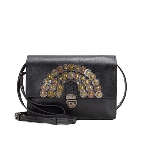 Patricia Nash Lanza Leather Coin Crossbody Bag