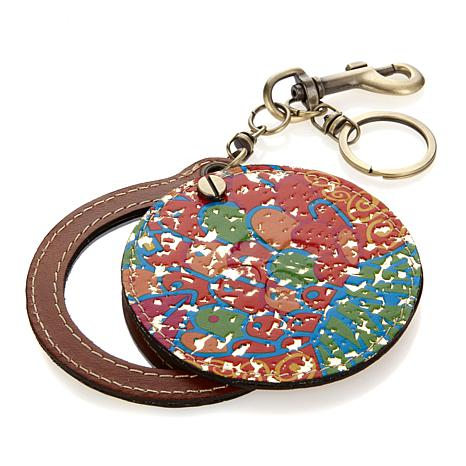 Patricia Nash Liscia Printed Twist Mirror Key Fob
