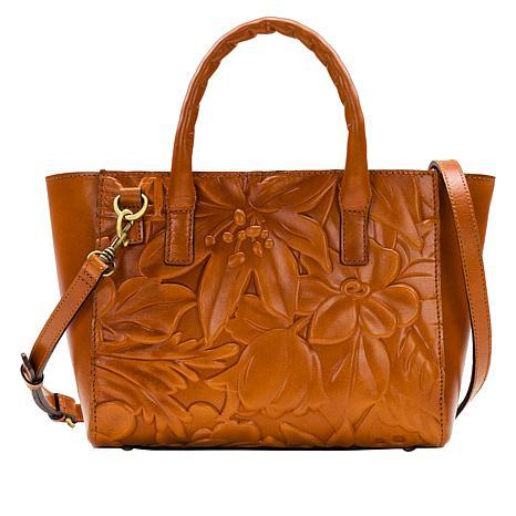 Patricia Nash Mozia Floral Deboss Leather Tote
