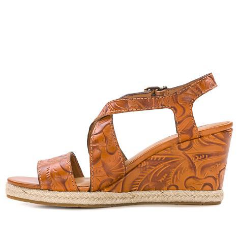 967d5181d2fe5b Patricia Nash Rafa Tooled Leather Wedge Sandal - 8608604