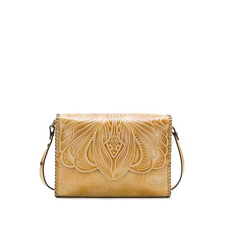 Patricia Nash Santillana Tooled Leather Flap Bag