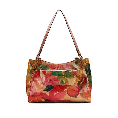 Patricia Nash Segovia Leather Tote with Clutch/Wallet