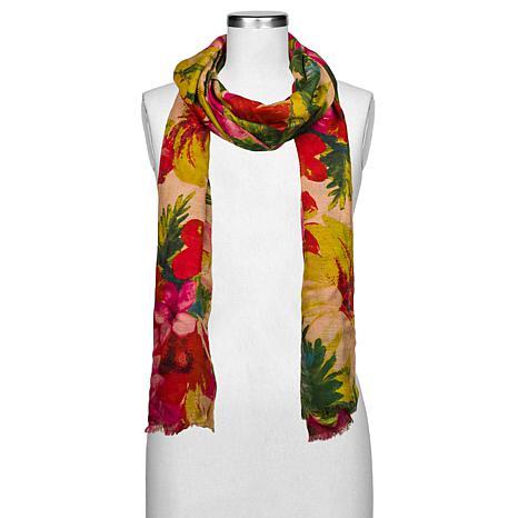 Patricia Nash Spring Multi Floral-Print Scarf