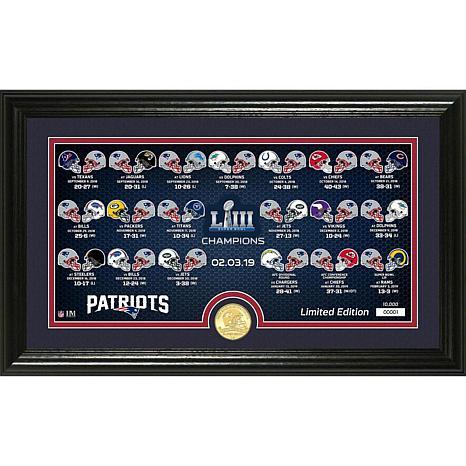 Patriots Super Bowl LIII Bronze Coin Panoramic Photo Mint