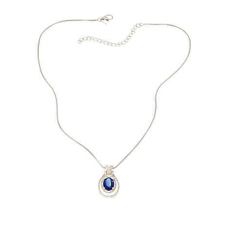 Paul Deasy Gem 3.04ctw Kyanite, Yellow Sapphire and Gem Pendant/Chain