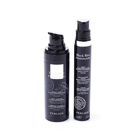 Perlier Black Rice 2pc Kit - Face Serum and Eye Serum