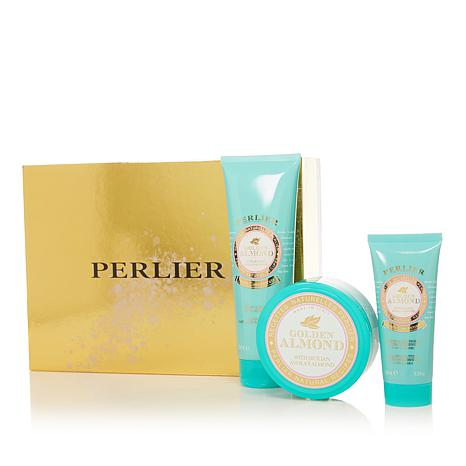 Perlier Golden Almond 3-piece Bath and Body Set with Box