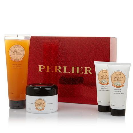 Perlier Honey & Orange 4-piece Set with Gift Box