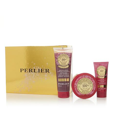 Perlier Pomegranate 3-piece Bath and Body Set with Box