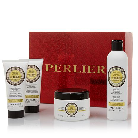 Perlier Shea Citrus 4-piece Set with Gift Box