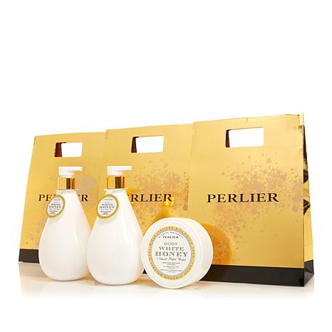 Perlier White Honey 3-piece Bath and Body Set with Bags