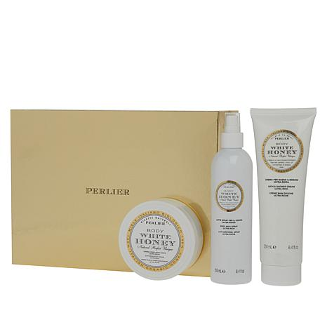 Perlier White Honey Bath and Body 3-piece Set