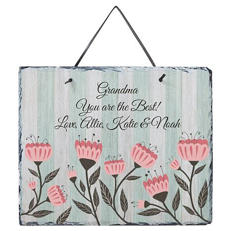 Personal Creations Personalized Vintage Floral Slate