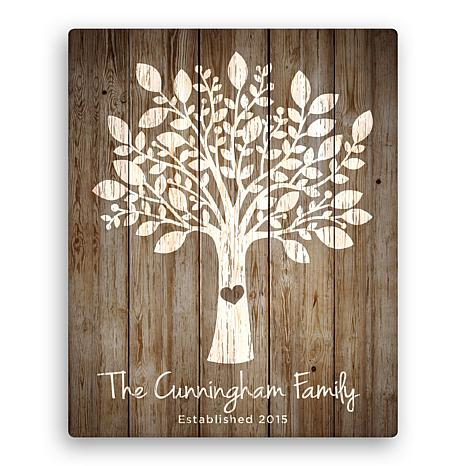 "Personalized Our Family Tree 16"" x 20"" Canvas"