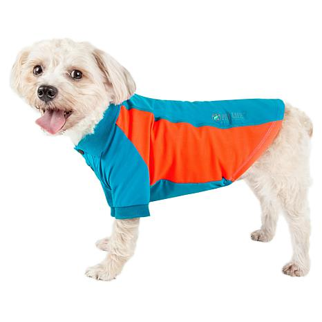 Pet Life Active Barko Pawlo Relax-Stretch Wick-Proof Dog Polo T-shirt