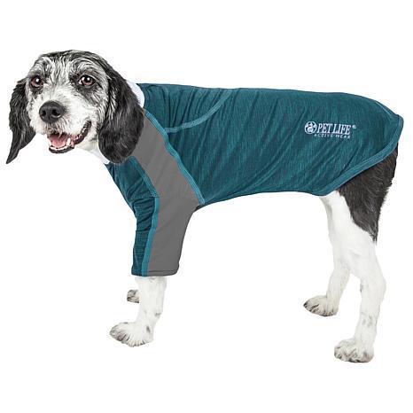 Pet Life Active Chewitt Wagassy Two-Toned Sleeveless Dog T-shirt