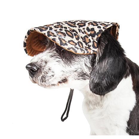 Pet Life Cheetah Bonita Cheetah Print Adjustable Dog Hat - Medium